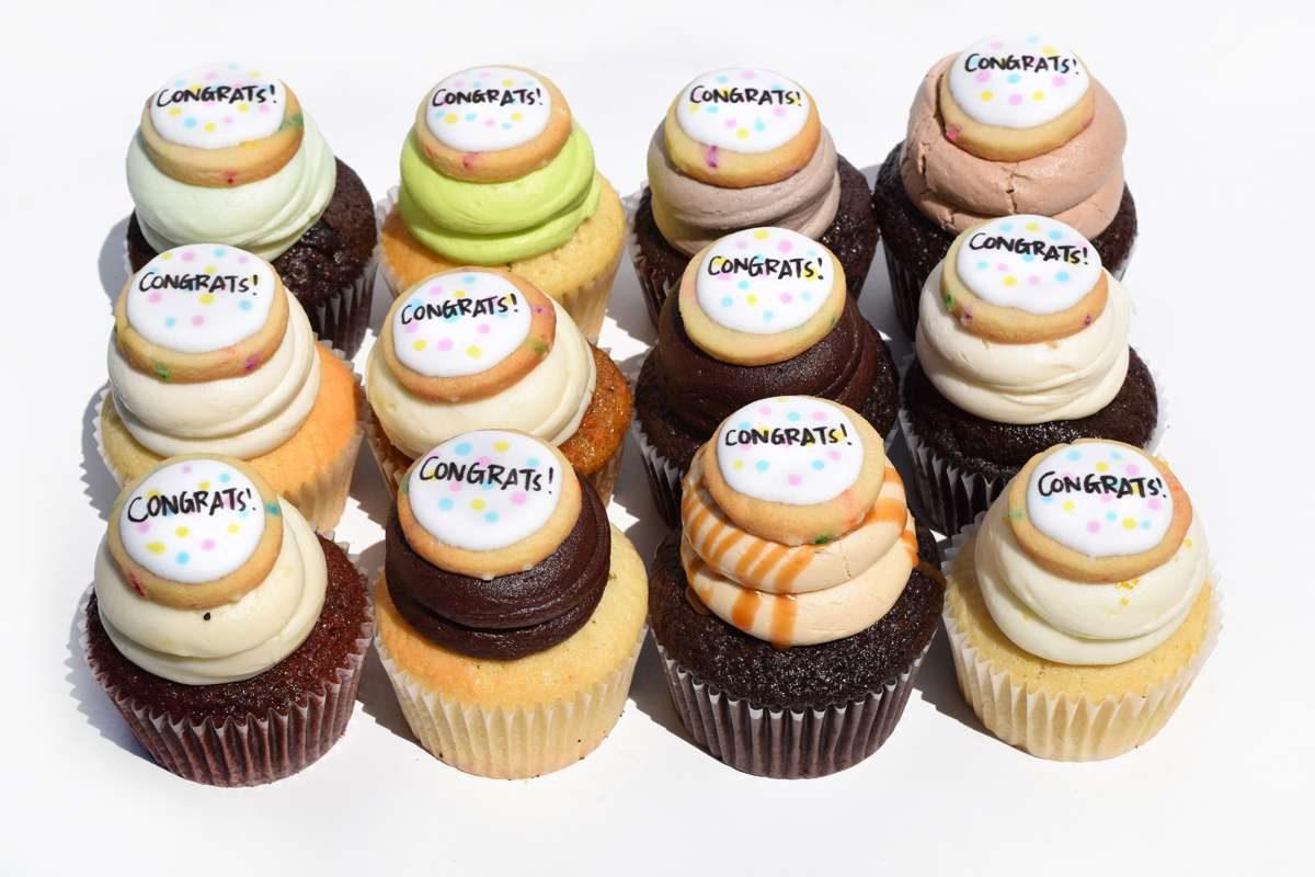 Congratulations Cupcake Toronto Delivery