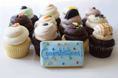 Enlarge photo of Congratulations Cupcake Assortment with Cookie