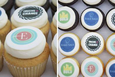 Enlarge photo of Corporate Logo Cupcakes