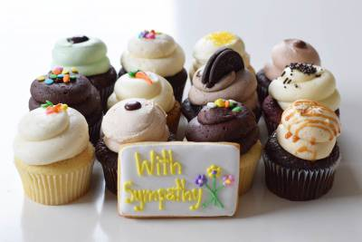 Enlarge photo of Sympathy Cupcake Assortment with With Cookie