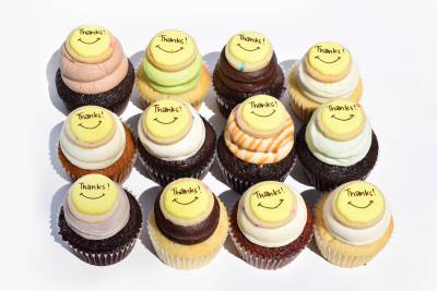 Enlarge photo of Thanks Cookie Cupcake Assortment