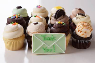 Enlarge photo of Thank You Cupcake Assortment with Cookie